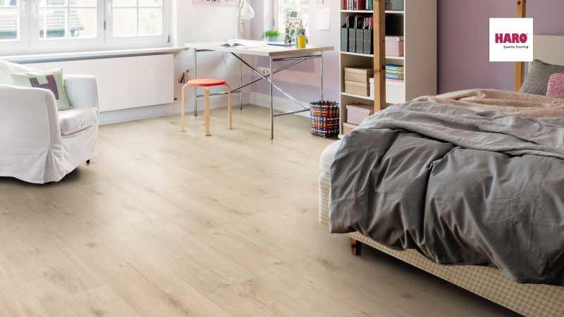 Laminuotos grindys Haro NKL 31 Ąžuolas Siena Velvet White