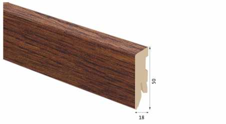 Laminuota grindjuostė Kaindl MDF Jatoba Cosmos 18*50 MM