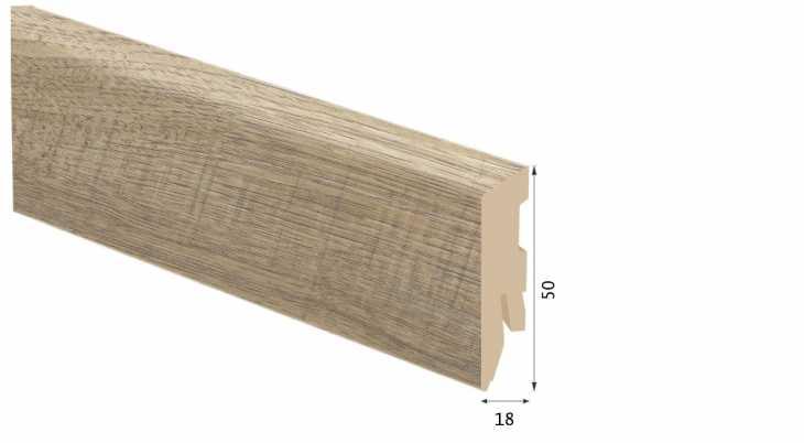 Laminuota grindjuostė Kaindl MDF Ąžuolas Natura 18*50 MM