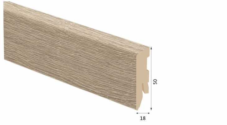 Laminuota grindjuostė Kaindl MDF Ąžuolas Multistrip True 18*50 MM
