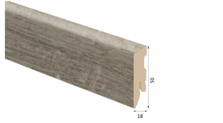 Laminuota grindjuostė Kaindl MDF Tekas India 18*50 MM