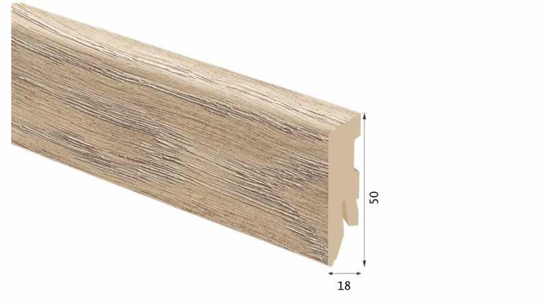 Laminuota grindjuostė Kaindl MDF Ąžuolas Aliano 18*50 MM