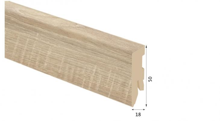 Laminuota grindjuostė Kaindl MDF Ąžuolas Rosarno 18*50 MM