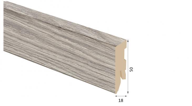 Laminuota grindjuostė Kaindl MDF Ąžuolas Sterling 18*50 MM