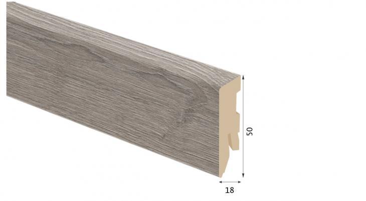Laminuota grindjuostė Kaindl MDF Ąžuolas Farco Colo 18*50 MM