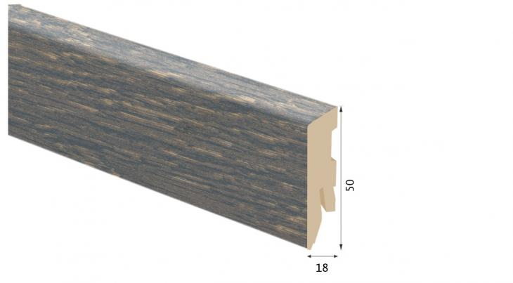 Laminuota grindjuostė Kaindl MDF Ąžuolas Barrel 18*50 MM