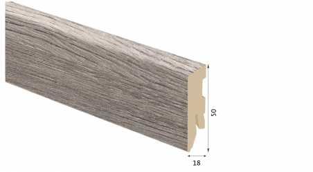 Laminuota grindjuostė Kaindl MDF Ąžuolas Naverina 18*50 MM