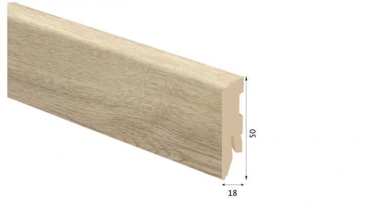 Laminuota grindjuostė Kaindl MDF Ąžuolas Tortona 18*50 MM
