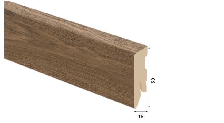 Laminuota grindjuostė Kaindl MDF Ąžuolas Farco Elegance 18*50 MM