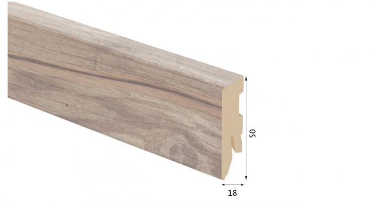 Laminuota grindjuostė Kaindl MDF Betonas Fussil 18*50 MM