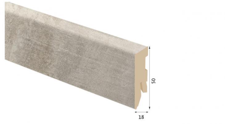 Laminuota grindjuostė Kaindl MDF Ąžuolas Nixon 18*50 MM