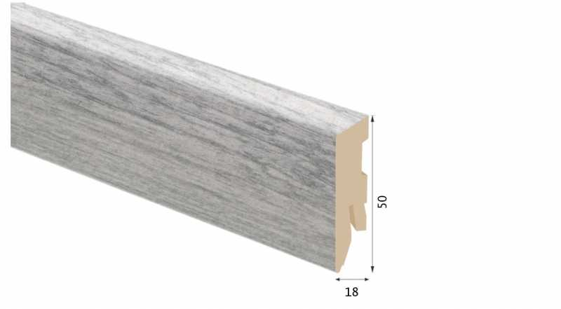 Laminuota grindjuostė Kaindl MDF Ąžuolas Avalon 18*50 MM