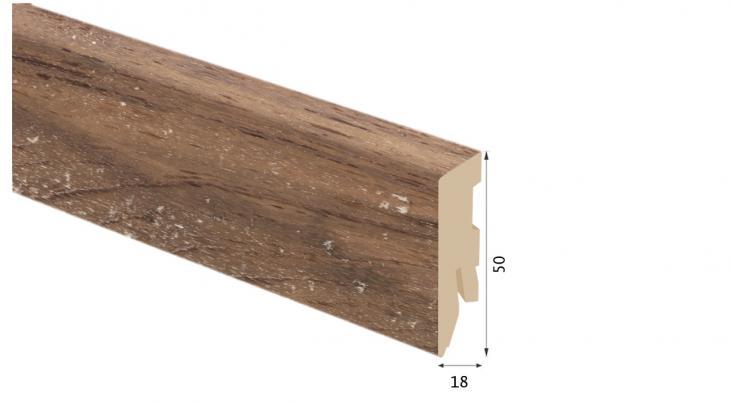 Laminuota grindjuostė Kaindl MDF Riešutas Multistrip Avelo 18*50 MM