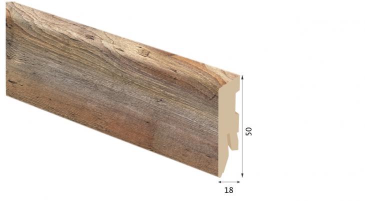 Laminuota grindjuostė Kaindl MDF Hemlock Barnwood Anco 18*50 MM