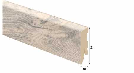 Laminuota grindjuostė Kaindl MDF Ąžuolas Andorra 18*50 MM