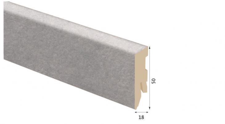 Laminuota grindjuostė Kaindl MDF Betonas Art Perlgrau 18*50 MM