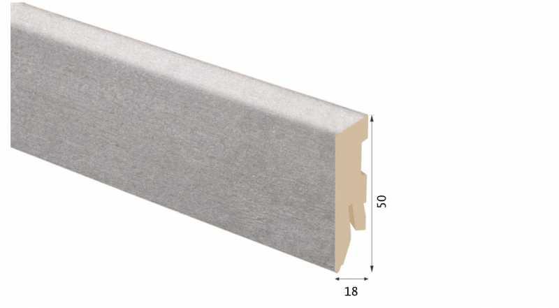 Laminuota grindjuostė Kaindl MDF Betonas Laval 18*50 MM
