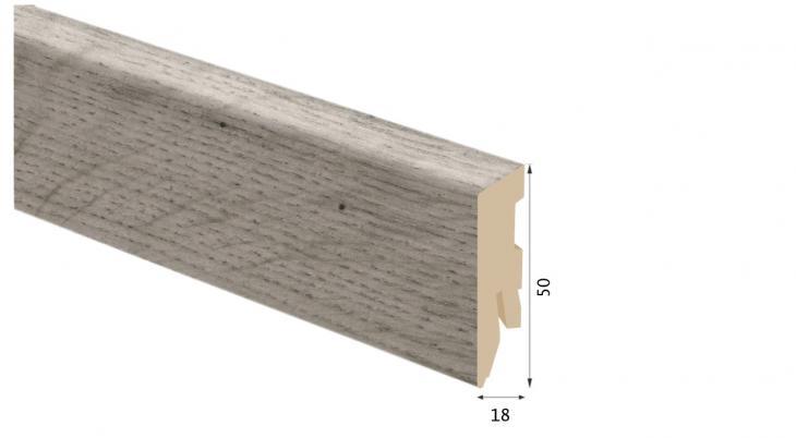 Laminuota grindjuostė Kaindl MDF Ąžuolas Uptown 18*50 MM