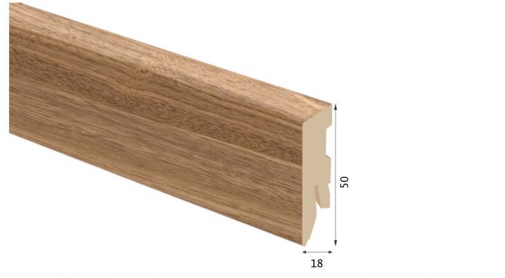 Laminuota grindjuostė Kaindl MDF Riešutas Salon 18*50 MM