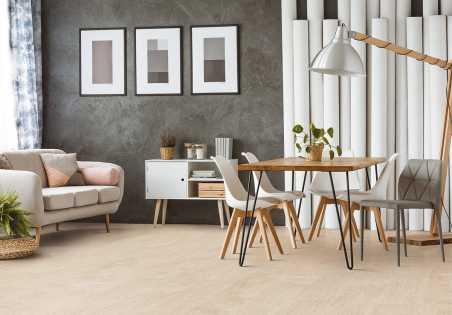 Kamštinė grindų danga Fashionable Antique White