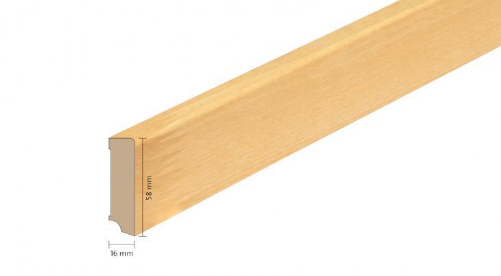 Faneruota medinė grindjuostė Boen Uosis 16*58 MM