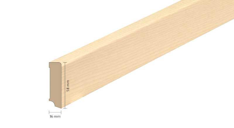 Faneruota medinė grindjuostė Boen Uosis Live Pure 1658 MM
