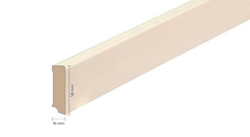 Faneruota medinė grindjuostė Boen Uosis White Live Pure 1658 MM