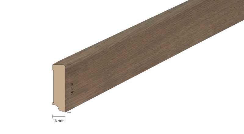 Faneruota medinė grindjuostė Boen Ąžuolas Arizona 1658 MM
