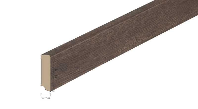 Faneruota medinė grindjuostė Boen Ąžuolas Smoked 1658 MM