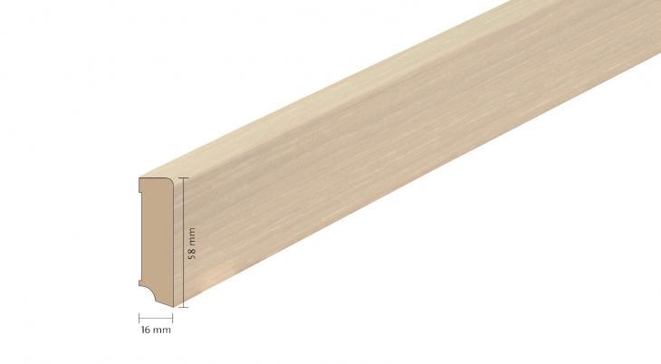 Faneruota medinė grindjuostė Boen Ąžuolas White Stone 16*58 MM