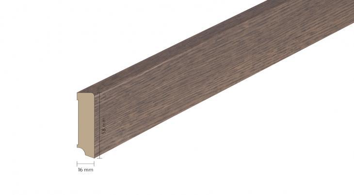 Faneruota medinė grindjuostė Boen Ąžuolas Brown Jasper 16*58 MM