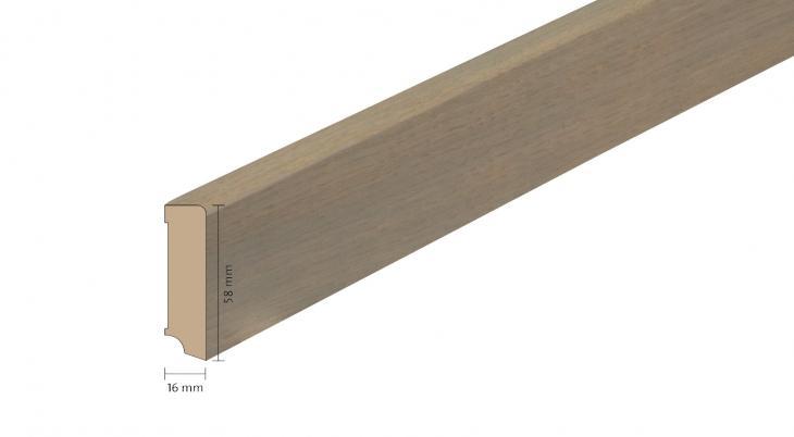 Faneruota medinė grindjuostė Boen Ąžuolas Horizon 16*58 MM