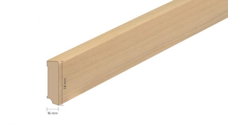 Faneruota medinė grindjuostė Boen Ąžuolas Warm Cotton 16*58 MM