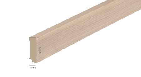 Faneruota medinė grindjuostė Boen Ąžuolas Warm Grey 16*58 MM