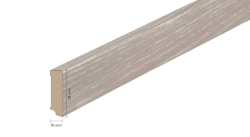 Faneruota medinė grindjuostė Boen Ąžuolas India Grey 1658 MM