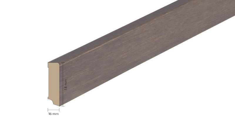 Faneruota medinė grindjuostė Boen Ąžuolas Foggy Brown 1658 MM