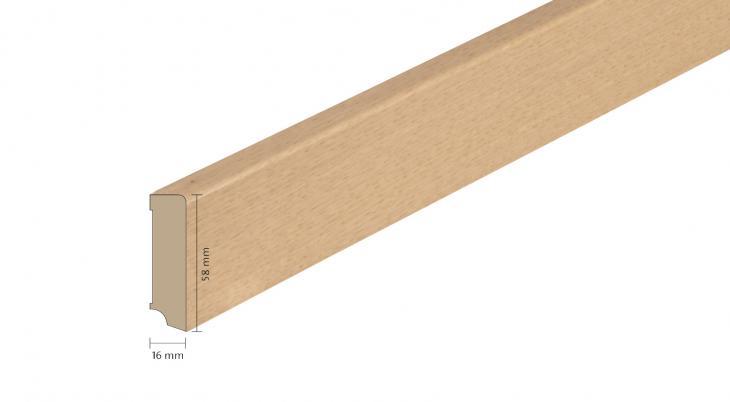 Faneruota medinė grindjuostė Boen Ąžuolas Semi Smoked 16*58 MM