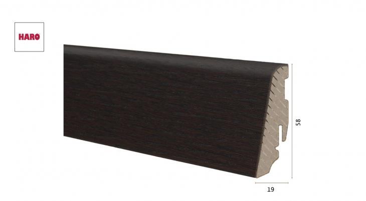 Medinė faneruota grindjuostė Haro Ąžuolas African Brushed 19*58 MM