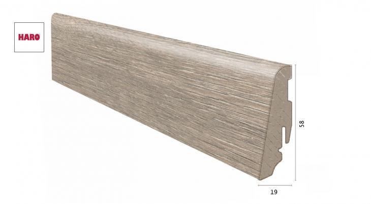 Laminuota grindjuostė Haro Ąžuolas Dover 19*58 MM
