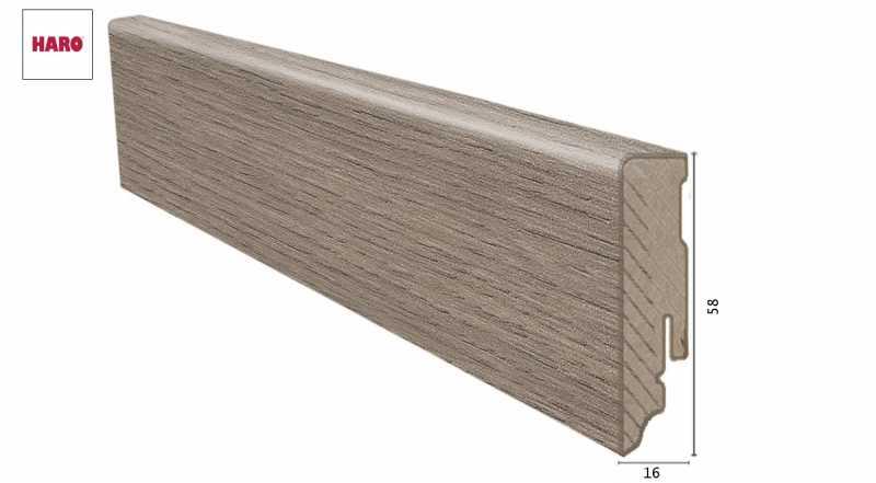 Laminuota grindjuostė Haro Ąžuolas Eleganza Antique Grey 1658 MM