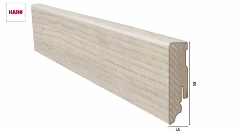 Laminuota grindjuostė Haro Ąžuolas Sicilia White 1658 MM