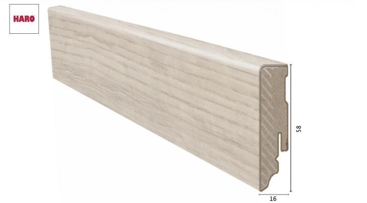 Laminuota grindjuostė Haro Ąžuolas Sicilia White 16*58 MM