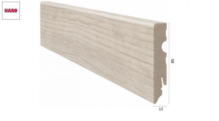 Laminuota grindjuostė Haro Ąžuolas Sicilia White 15*80 MM