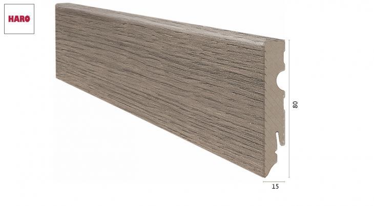 Laminuota grindjuostė Haro Ąžuolas Eleganza Antique Grey 15*80 MM