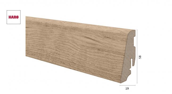 Laminuota grindjuostė Haro Ąžuolas Sicilia Puro 19*58 MM