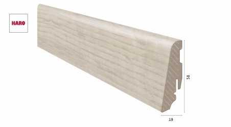 Laminuota grindjuostė Haro Ąžuolas Sicilia White 19*58 MM