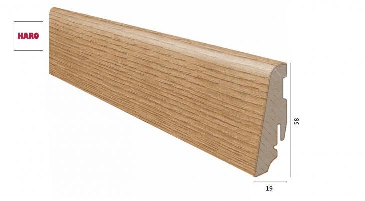 Laminuota grindjuostė Haro Ąžuolas Veneto Nature 19*58 MM