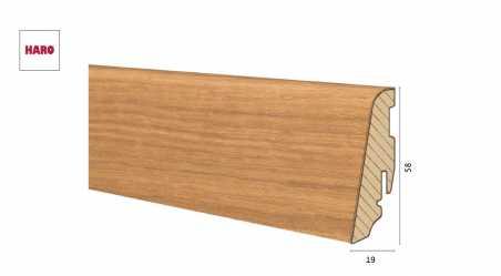 Medinė faneruota grindjuostė Haro Ąžuolas 19*58 MM