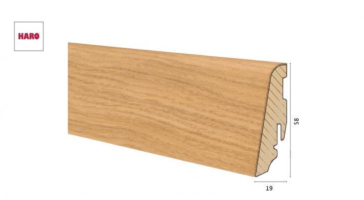 Medinė faneruota grindjuostė Haro Ąžuolas Branch Knots 19*58 MM
