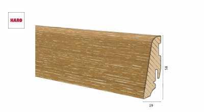 Medinė faneruota grindjuostė Haro Ąžuolas Atelier 1958 MM